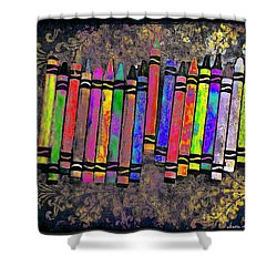 Summer's Crayon Love Shower Curtain by Iowan Stone-Flowers
