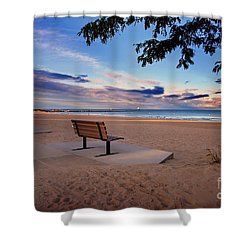 Shower Curtain featuring the photograph Summers Over by Randall  Cogle
