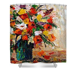 Shower Curtain featuring the painting Summer's Riot by Phyllis Howard