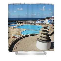 Summertime At Ribeira Grande Shower Curtain by Gaspar Avila
