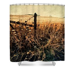 Summertime Country Fence Shower Curtain