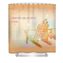 Shower Curtain featuring the photograph Summertime by Robin Regan