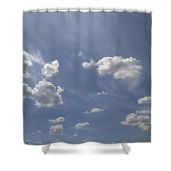 Summertime Sky Expanse Shower Curtain by Arletta Cwalina