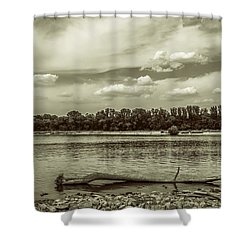 Summertime Vistula River In Warsaw Shower Curtain