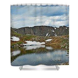 Summit Lake In Summer Shower Curtain