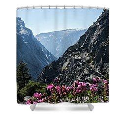 Summits Shower Curtain by Ryan Weddle