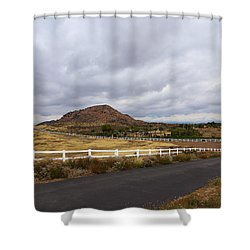 Summitville Street Temecula Shower Curtain by Viktor Savchenko