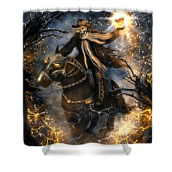 Summoned Skull Fantasy Art Shower Curtain