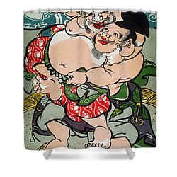 Sumo Wrestling Shower Curtain by Granger