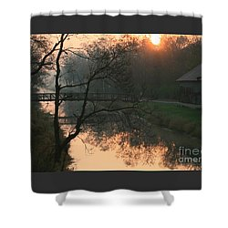 Sun Above The Trees Shower Curtain