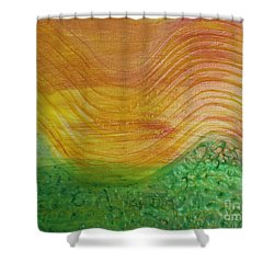 Sun And Grass In Harmony Shower Curtain