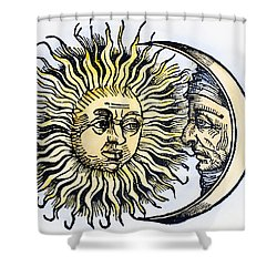 Sun And Moon, 1493 Shower Curtain by Granger