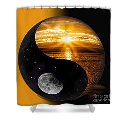 Sun And Moon - Yin And Yang Shower Curtain