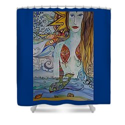 Sun And Sea Godess Shower Curtain