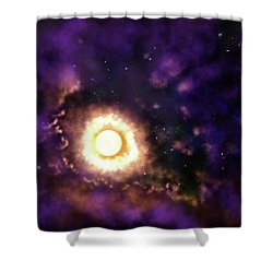 Sun And Space Shower Curtain