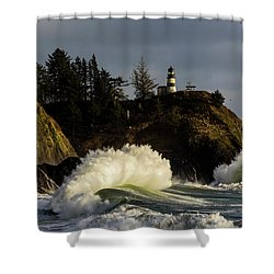 Sun And Surf With Lighthouse Shower Curtain