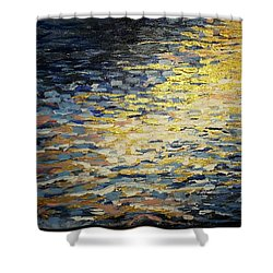 Sun And Wind On Water Shower Curtain