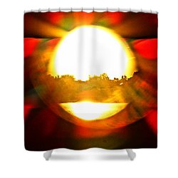 Shower Curtain featuring the photograph Sun Burst by Eric Dee