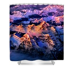 Shower Curtain featuring the photograph Sun Catcher - Assiniboine by John Poon