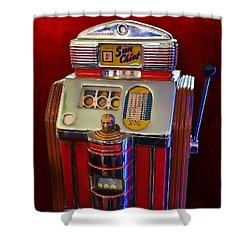 Sun Chief Vintage Slot Machine Shower Curtain