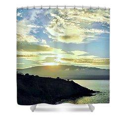 Sun Cresting Haleakala Shower Curtain