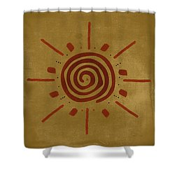 Sun Dial Shower Curtain