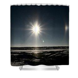 Sun Dogs Besides Settig Sun Shower Curtain by Mark Duffy