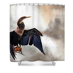 Sun-dried Shower Curtain by Cyndy Doty