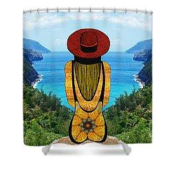 Sun Girl In Kauai Shower Curtain