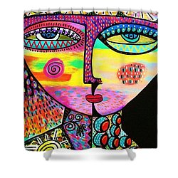 Sun Goddess Shower Curtain by Sandra Silberzweig