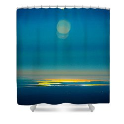 Sun Going Down On The Sound Shower Curtain