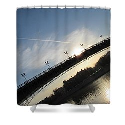 Sun Layers Shower Curtain by Anna Yurasovsky
