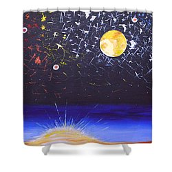 Sun Moon And Stars Shower Curtain