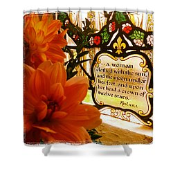 Sun Moon And Stars Shower Curtain by Vicki Gardner