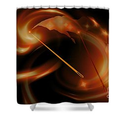 Sun Needles Shower Curtain