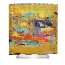 Sun Overlapping Shower Curtain