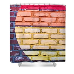 Sun On Bricks Shower Curtain by Art Block Collections