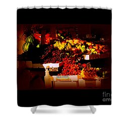 Shower Curtain featuring the photograph Sun On Fruit - Markets And Street Vendors Of New York City by Miriam Danar