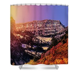 Sun On The Mountain Shower Curtain