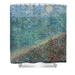 Sun Over The Azov Sea Shower Curtain