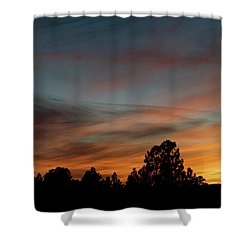 Sun Pillar Sunset Shower Curtain