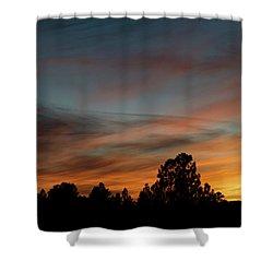 Sun Pillar Sunset Shower Curtain