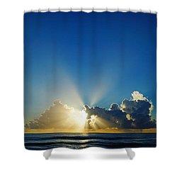 Sun Ray Sunrise Shower Curtain