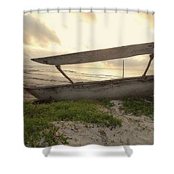 Sun Rays And Wooden Dhows Shower Curtain
