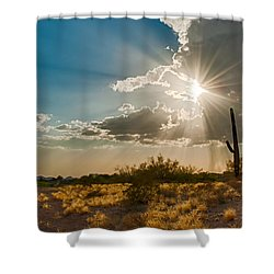 Shower Curtain featuring the photograph Sun Rays In Tucson by Dan McManus