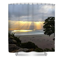 Shower Curtain featuring the photograph Sun Rays by Pravine Chester
