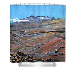 Sun Salutation At Haleakala Shower Curtain