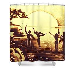 Sun Salutation Shower Curtain