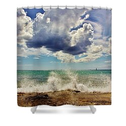 Sun, Sea And Sky Shower Curtain
