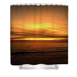 Sun Set On The Gulf Shower Curtain